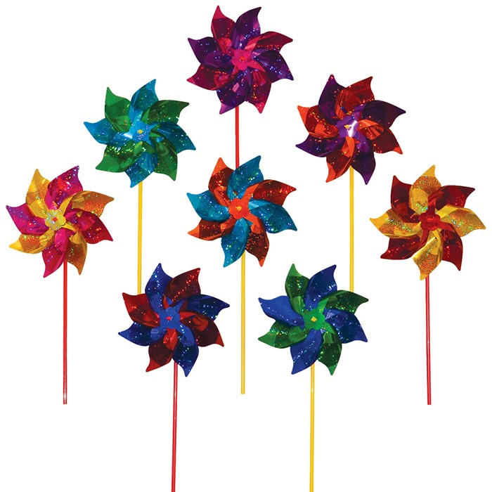 Classic Mylar Pinwheels - 8 PC | In the Breeze