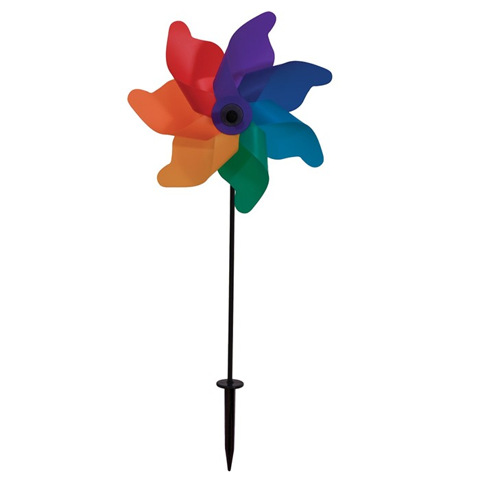 18 inch Rainbow Poly Petal Spinner | In the Breeze