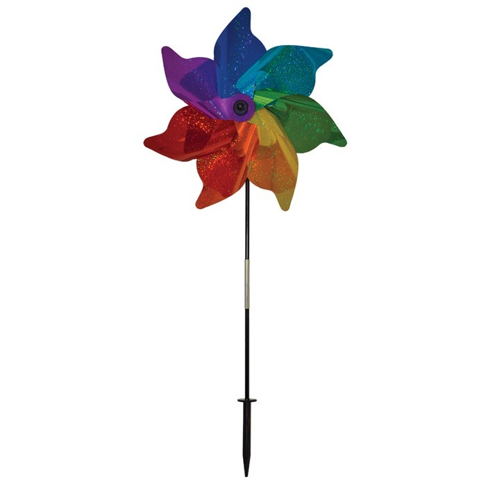"Rainbow Sparkle 18"" Pinwheel Spinner 