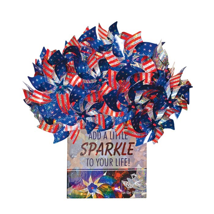 Stars and Stripes Pinwheel - 48 PC POP Display | In the Breeze