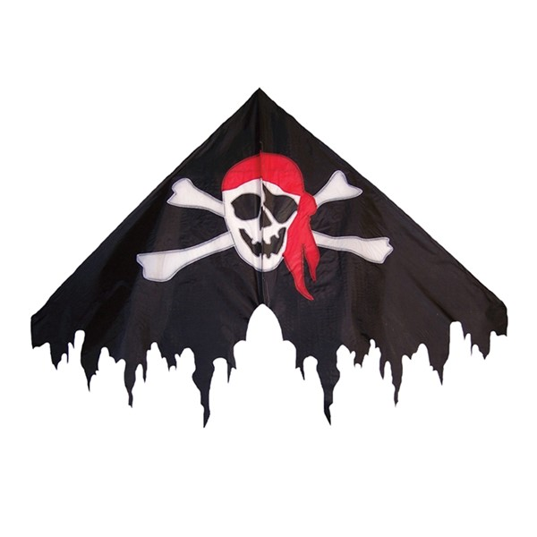 "View I'm a Jolly Roger 50"" Fringe Delta Kite"