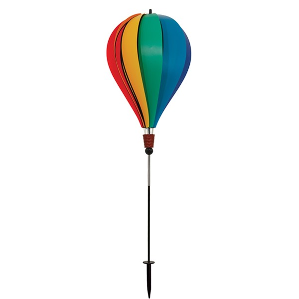 View Rainbow Poly 10 Panel Hot Air Balloon Ground Spinner