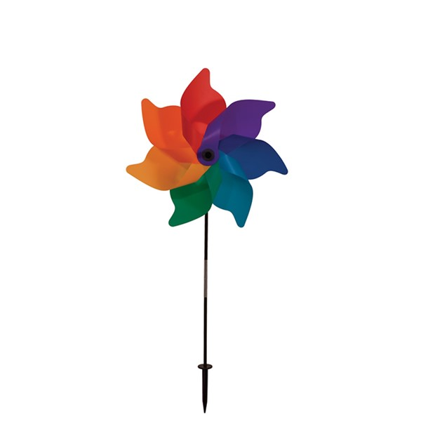"View 12"" Rainbow Poly Petal Spinner"