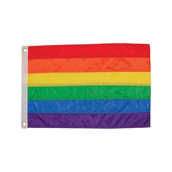 View Rainbow 12x18 Grommet Flag