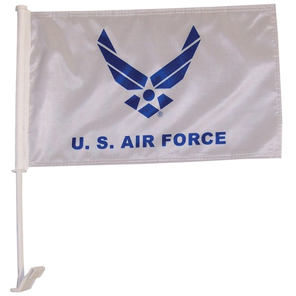 View U.S. Air Force Wings Car Flag