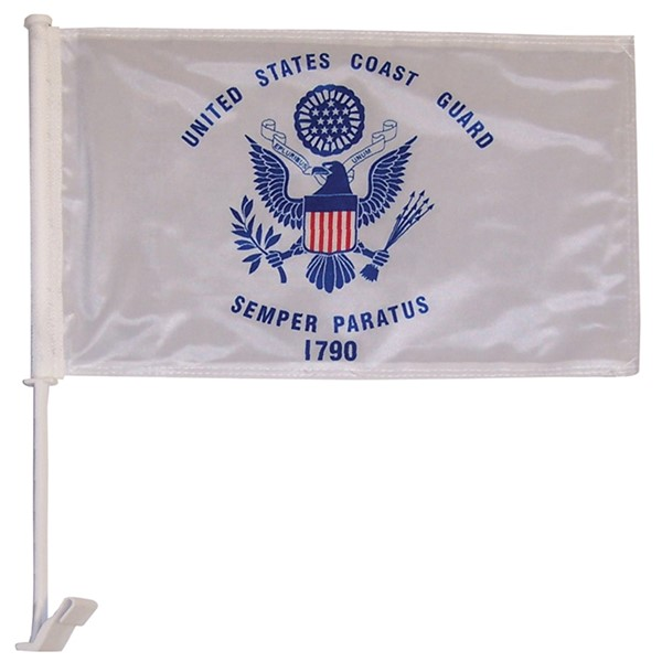 View U.S. Coast Guard Car Flag*