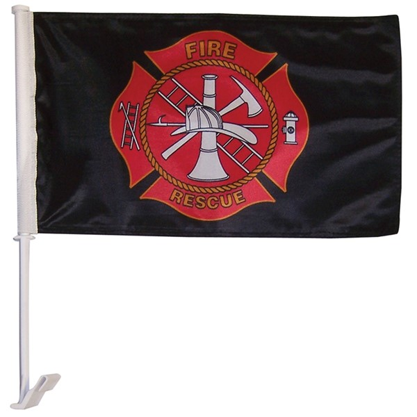View Fire Rescue Car Flag*