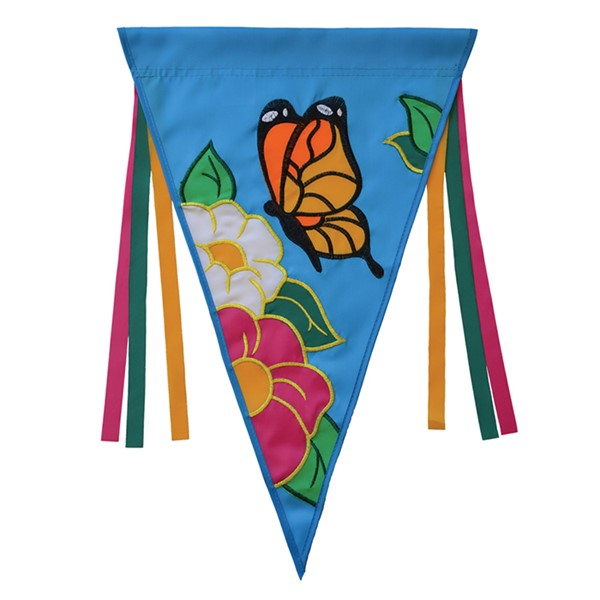 View Butterfly Flowers Pennant House Banner*