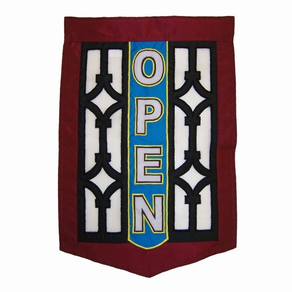 View Open Screen Door Garden Flag*