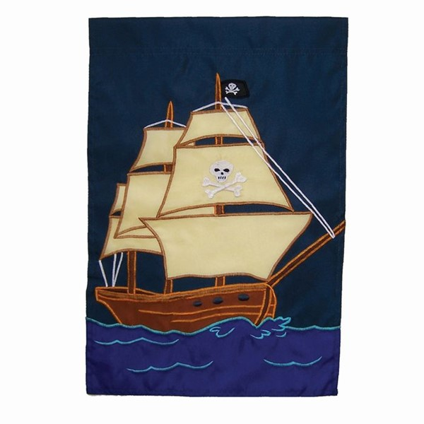 View Pirate Ship Garden Flag*