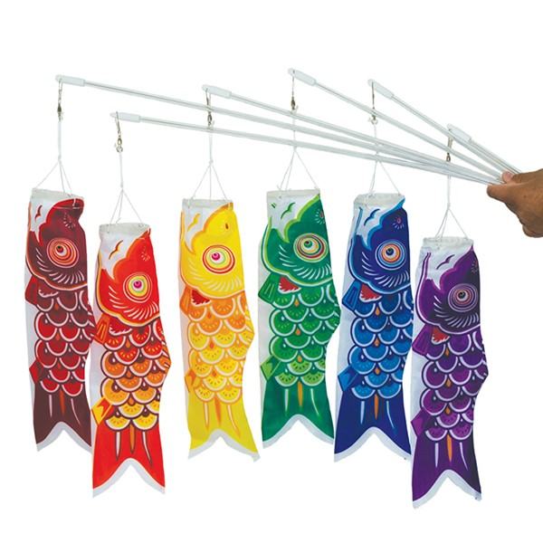 "View 12"" Koi Fish on a Wand - 6 PC"