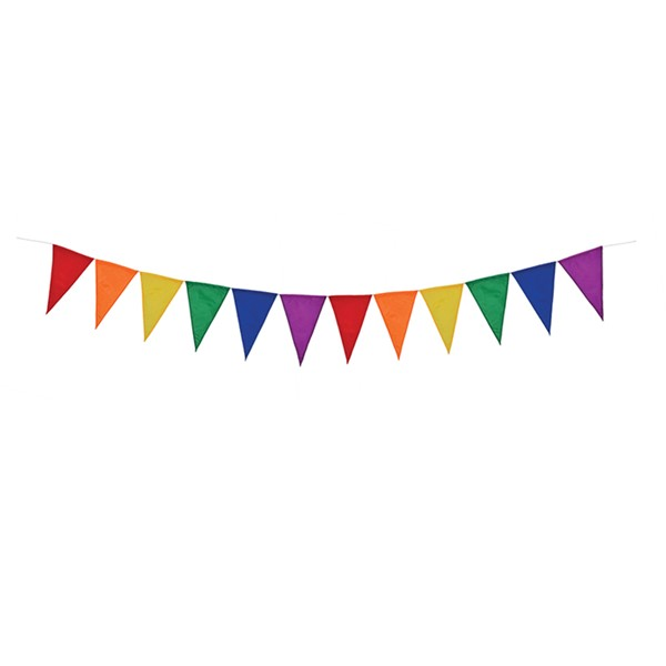 View Rainbow Festive Pennant String