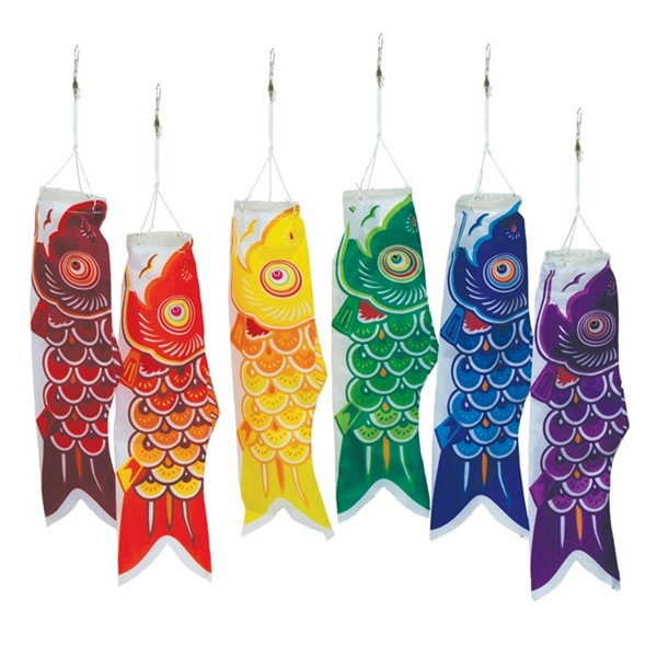 "View 12"" Koi Fish, 6PC Assorted Colors"