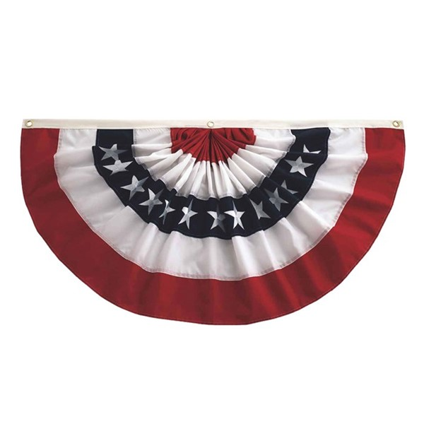 View Pleated Fan Patriotic Bunting, 2' x 4'