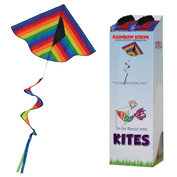 View Rainbow Stripe Delta with Spinning Tail 24 PC Display