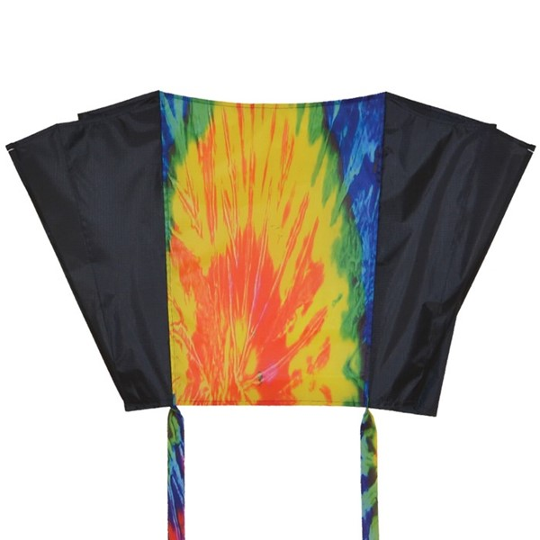 View Tie Dye and Black Sled Kite