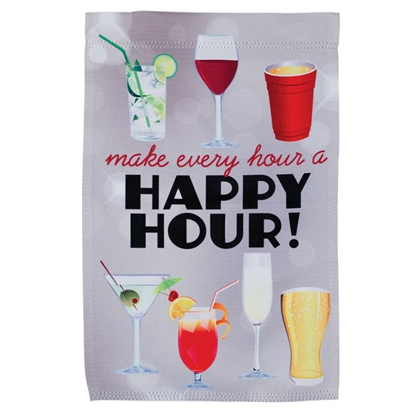 View Happy Hour Drinks Lustre Garden Flag
