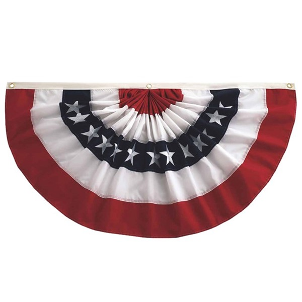 View Pleated Fan Patriotic Bunting, 3' x 6'