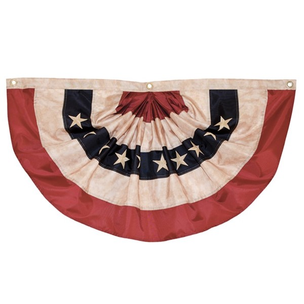View Pleated Fan Americana Bunting, 3' x 6'
