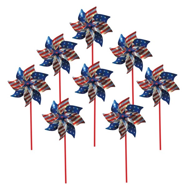 View Stars and Stripes Pinwheel - 8 PC