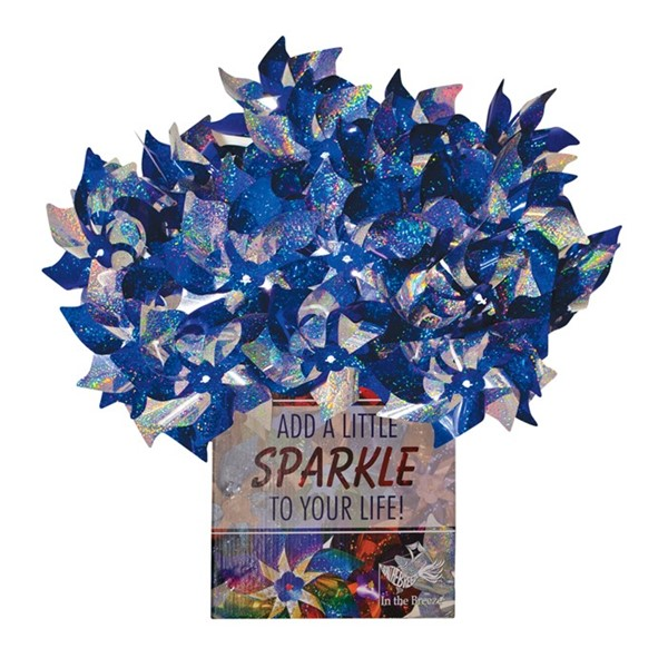 View Blue & Silver Spirit Pinwheels 48 PC POP Display