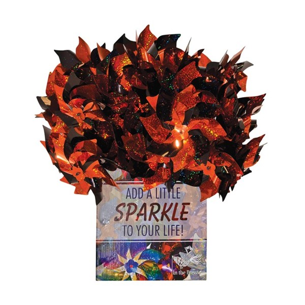 View Orange & Black Spirit Pinwheels 48 PC POP Display