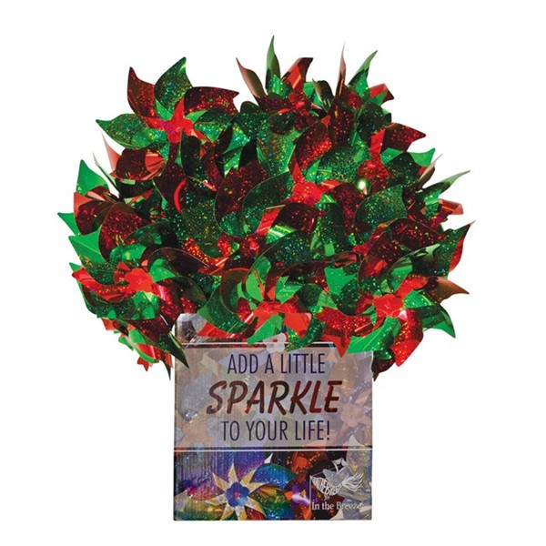 View Red & Green Spirit Pinwheels 48 PC POP Display