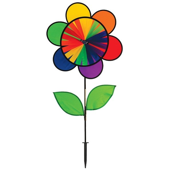 "View 19"" Rainbow Double Flower Wheel Combo with Leaves"