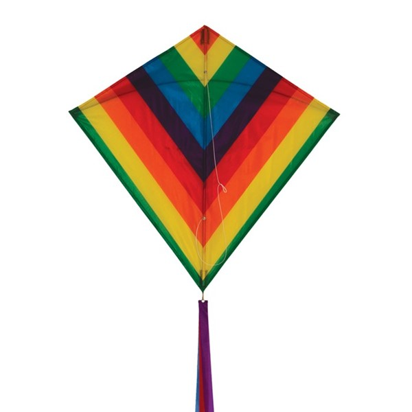 "View Rainbow Stripe 30"" Diamond Kite"