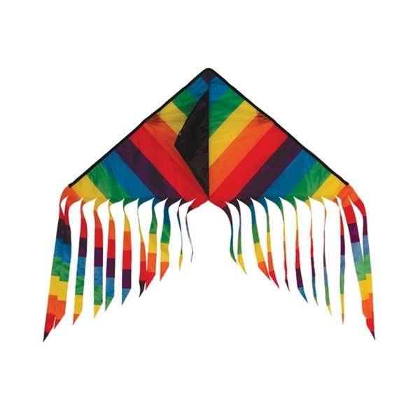 "View Rainbow Stripe 32"" Flutterfly Delta Kite"