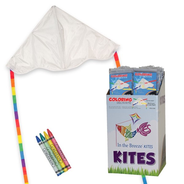 View Delta Coloring Kite 36 PC POP Display