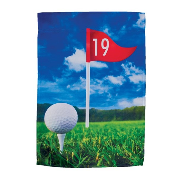 View 19th Hole Lustre Garden Flag