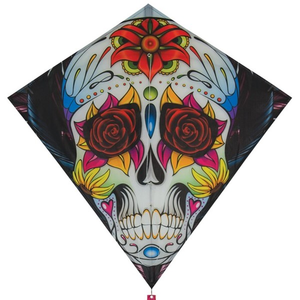 "View Sugar Skull 30"" Diamond Kite"
