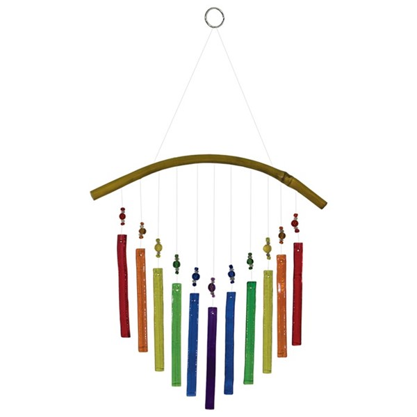 View Rainbow Arrow Glass and Bead Wind Chime