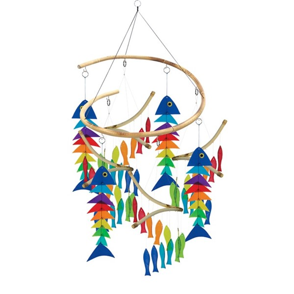 View Glass Fish Wind Chime Collection 12 PC Prepack
