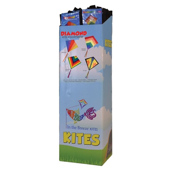 "View 30"" Diamond Kite Assortment - 36PC POP"