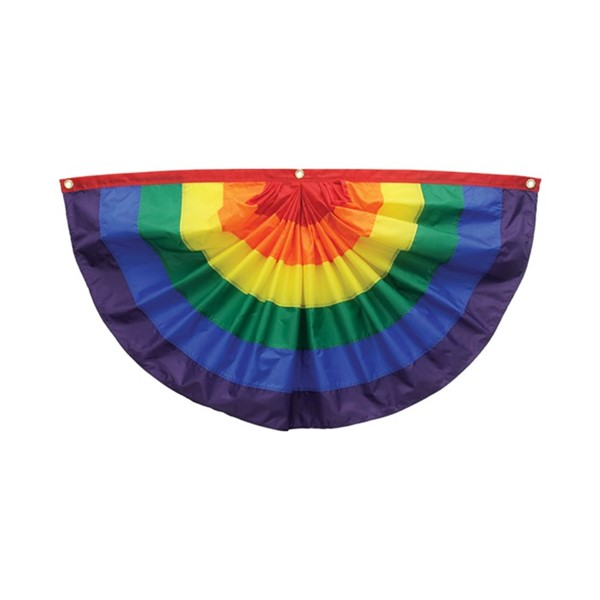 View Rainbow Pleated Fan Bunting, 1.5' x 3'