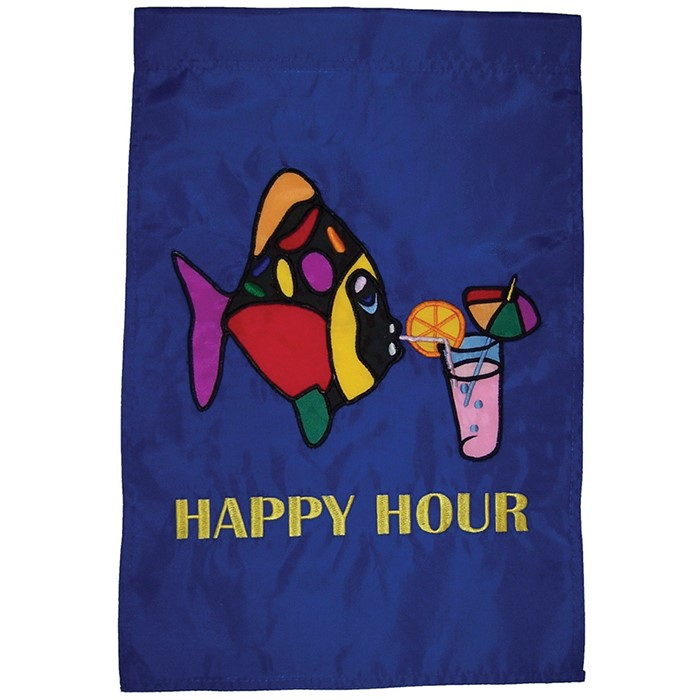Happy hour fish house banner in the breeze for Flying fish happy hour