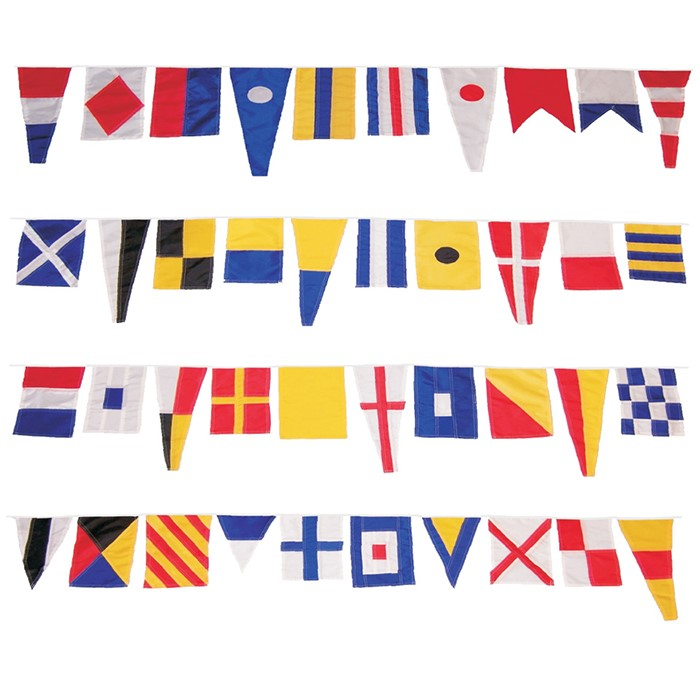 40 Piece Maritime Signal Flags On String   In the Breeze