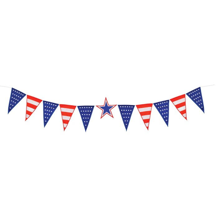 stars stripes festive pennant string in the breeze. Black Bedroom Furniture Sets. Home Design Ideas