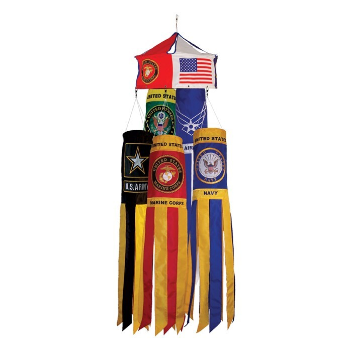 Military 40 inch Windsock 24 PC Prepack | In the Breeze