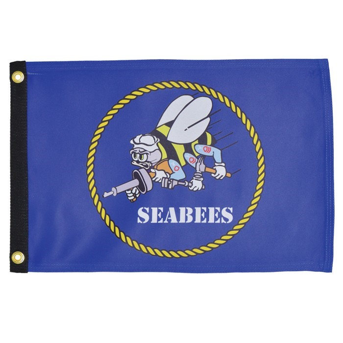 Navy Seabee 12x18 Grommet Flag | In the Breeze