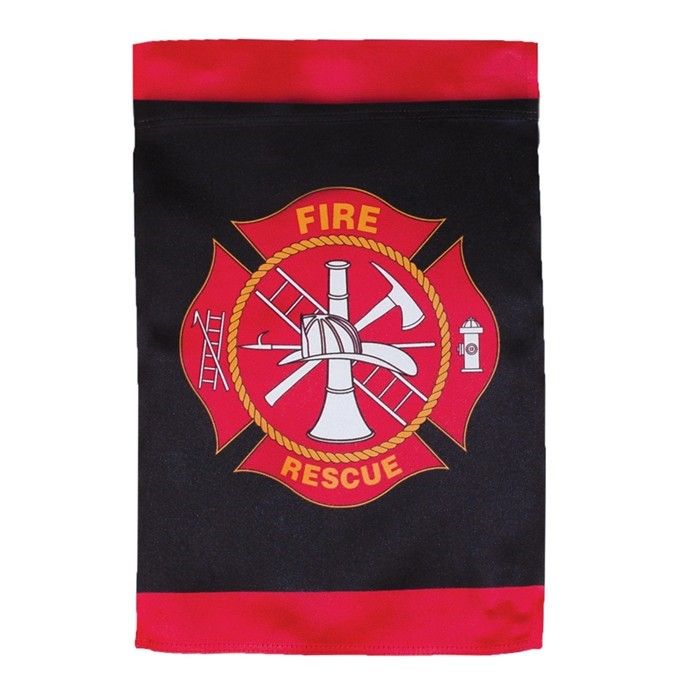 Fire Rescue Lustre Garden Flag | In the Breeze