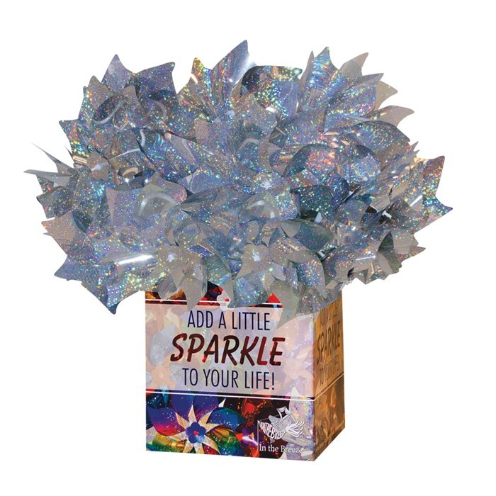 Silver Sparkle Pinwheel 48 PC POP Display | In the Breeze