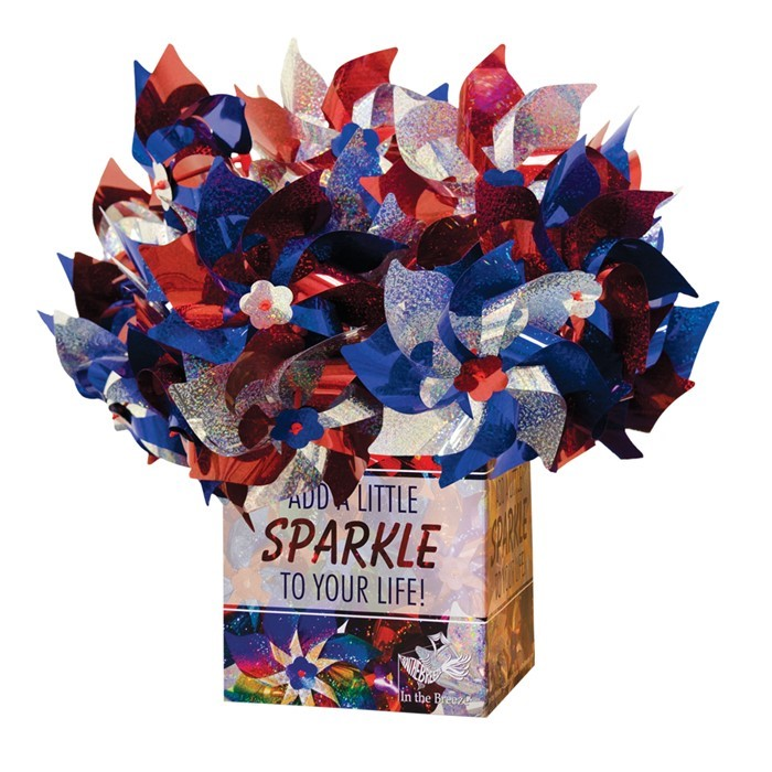Patriotic Pinwheel 48 PC POP Display | In the Breeze