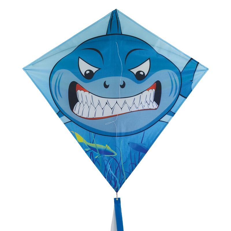 Shark 30 inch diamond kite in the breeze for Indoor kite design