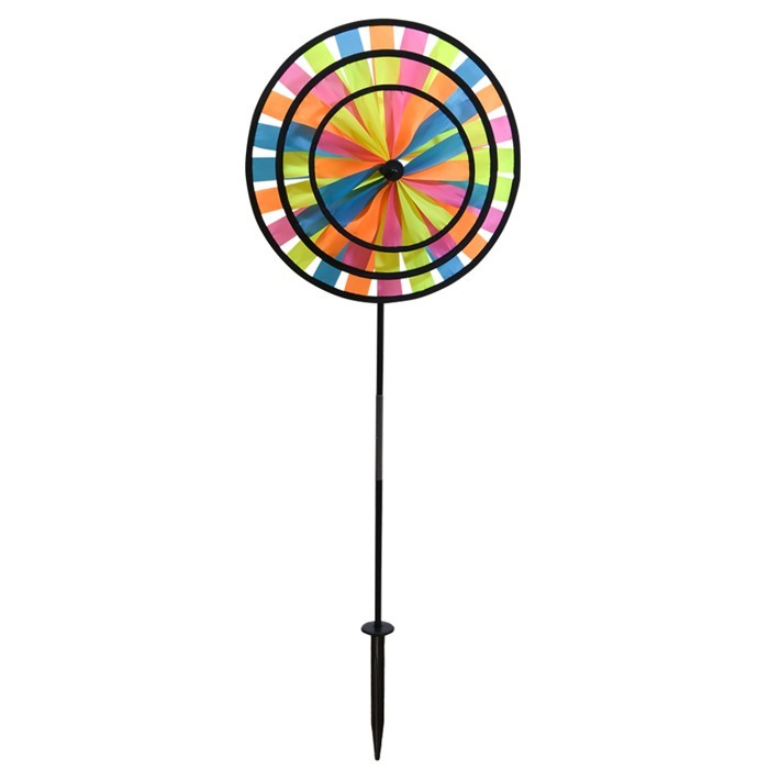 Neon Triple Wheel Spinner In The Breeze