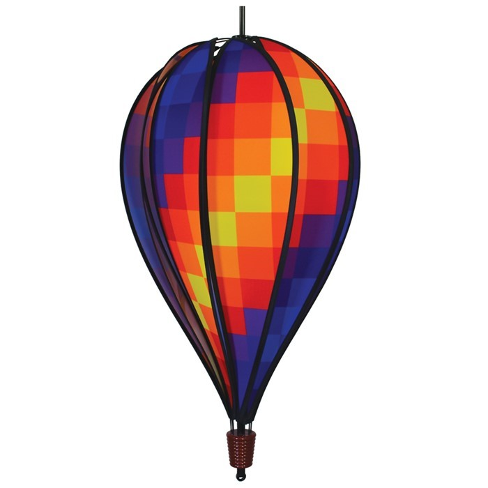 Rainbow Pixel 10 Panel Hot Air Balloon | In the Breeze