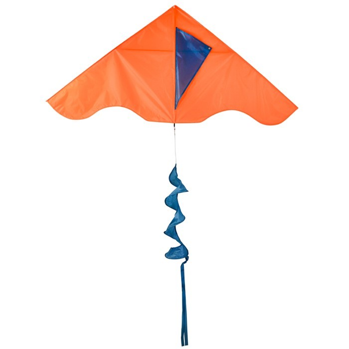 Orange Colorblock Delta with Teal Blue Twister Tail | In the Breeze
