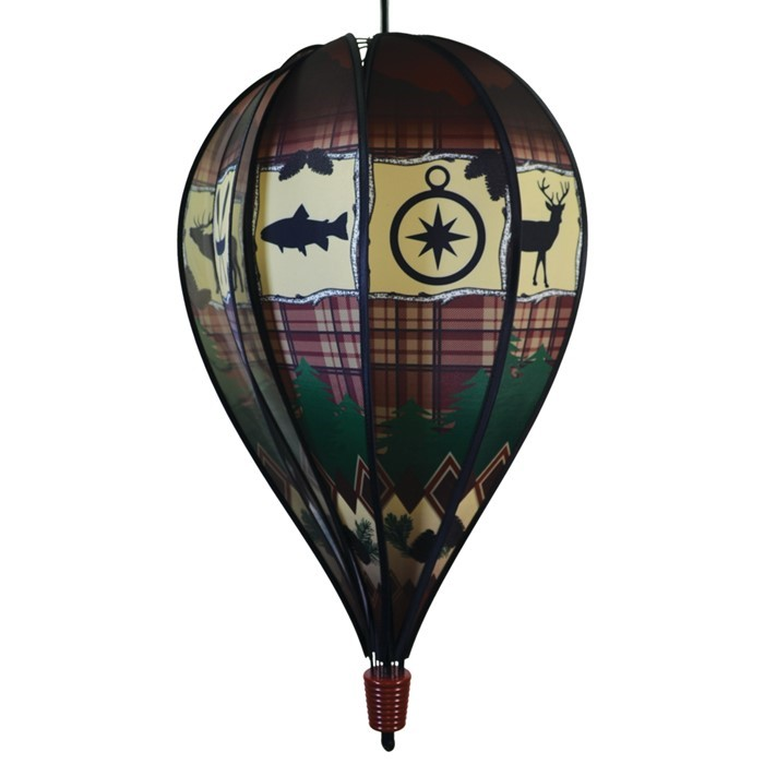 Rustic Lodge 10 Panel Hot Air Balloon Spinner | In the Breeze